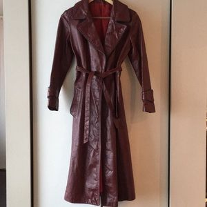 Gorgeous vintage leather trench coat